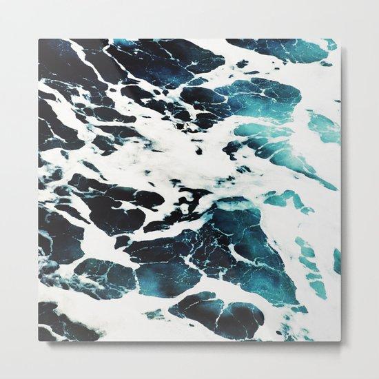 Dark Ocean Waves Metal Print