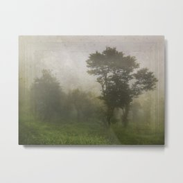 A foggy day in Dharamsala, India Metal Print