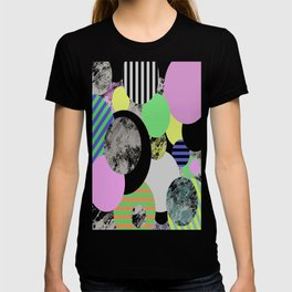 Cluttered Circles - Abstract, Geometric, Pop Art Style T-shirt