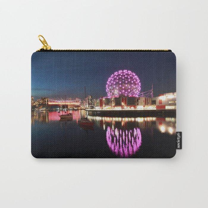 Purple Dandelion Carry-All Pouch