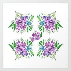 Freshly Cut Floral Bouquet Art Print