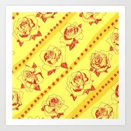 Buy more stock in Roses Art Print