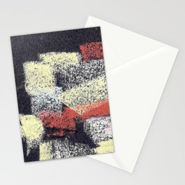 Multicolor abstract black Stationery Cards