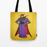 toy story Tote Bags featuring Toy Story | Emperor Zurg by Brave Tiger Designs