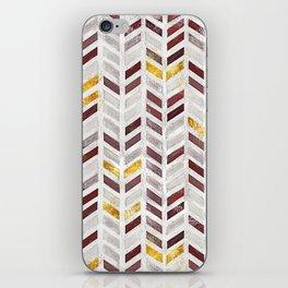 Modern Herringbone Chevron Pattern Painting iPhone Skin