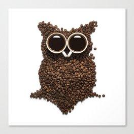 Coffee Owl Canvas Print