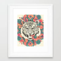 mandala Framed Art Prints featuring bengal mandala by Laura Graves