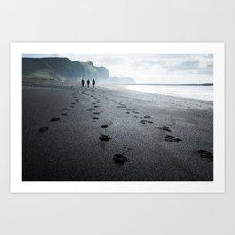 Black beach at Vik Art Print