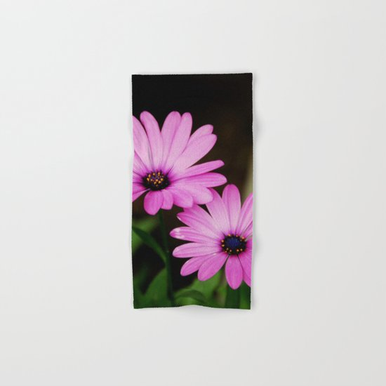 Pink Wild Flowers Hand & Bath Towel