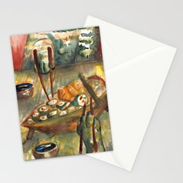 i love cats eating sushi Stationery Cards