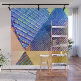 Geometric, Architectural Colorful Graphic Designs Wall Mural