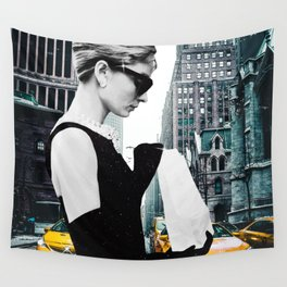 """Photo Montage """"Audrey in The City"""" Wall Tapestry"""