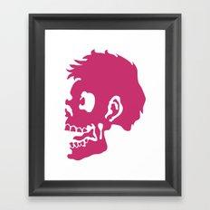 Zombie Head Framed Art Print