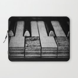 These Worn Tunes in Black and White Laptop Sleeve