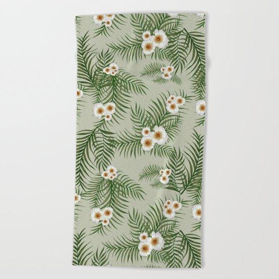 Vintage Jungle Pattern #society6 #decor #buyart Beach Towel