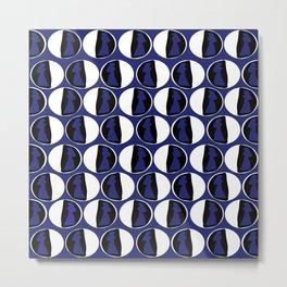 Dots Cardin Blue Metal Print