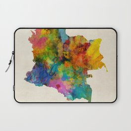 Colombia Watercolor Map Laptop Sleeve
