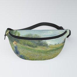 """Camille Pissarro """"Paysannes dans les champs, Pontoise""""("""" Peasants in the fields, Pontoise"""") Fanny Pack"""