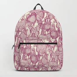 just chickens cherry pearl Backpack