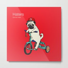 Haters gonna hate NJ Metal Print