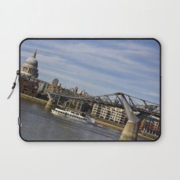 The River Thames Uphill  Laptop Sleeve