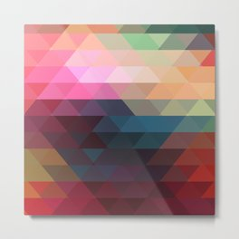 Retro Triangles  Metal Print