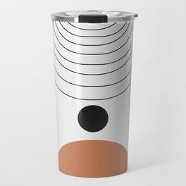 Abstract circles and gate background Travel Mug