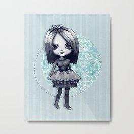 Gothy Girl Metal Print
