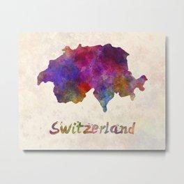 Switzerland in watercolor Metal Print