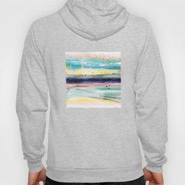 Summer watercolor abstract art design Hoody