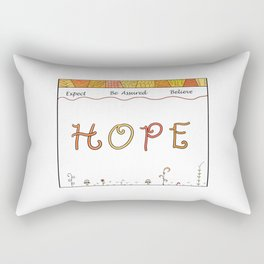 Hope Geometric Doodles in Oranges and Yellows Rectangular Pillow