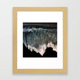 Monsters of Nazare (oil on canvas) Framed Art Print