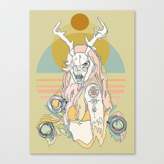 whitetail bones Canvas Print