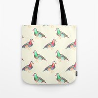 lsd Tote Bags featuring LSD BIRDS by Michal Gorelick