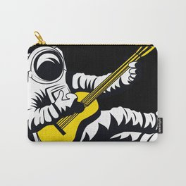 Space Astronaut Playing Yellow Guitar Music Art Design Decor Gift Funny Carry-All Pouch