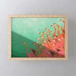 Fresco of the flamingoes. Framed Mini Art Print