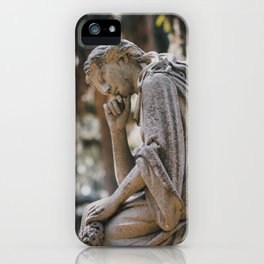 Bonaventure Cemetery - Statue of Eliza Wilhelmina Theus II iPhone Case