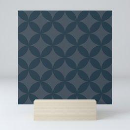 Blue geometry 2 Mini Art Print