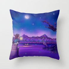The Unexpected Visitor Throw Pillow