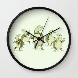 Dancing Turtles Wall Clock