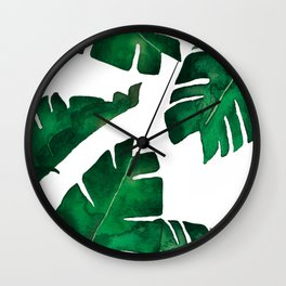 Banana leafs Wall Clock