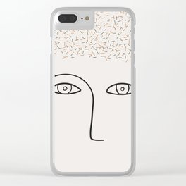 Lots on my mind Clear iPhone Case