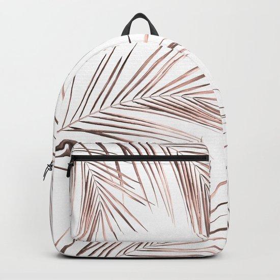 Rose Gold Palm Leaves 1 Backpack