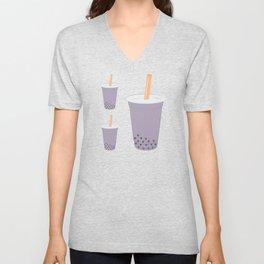 Taro Bubble Tea Pattern Unisex V-Neck