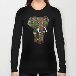 floral elephant teal Long Sleeve T-shirt