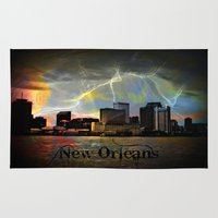 new orleans Area & Throw Rugs featuring New Orleans by Kelly King