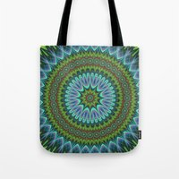 mandala Tote Bags featuring Mandala by David Zydd