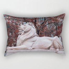 Patience in Burgundy Rectangular Pillow