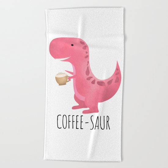 Coffee-saur | Pink Beach Towel