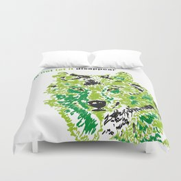 Wolf - do not let it disappear Duvet Cover